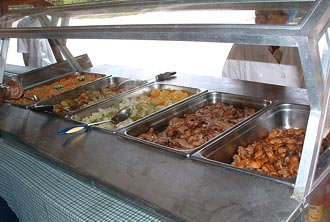 Isla Catalina buffet