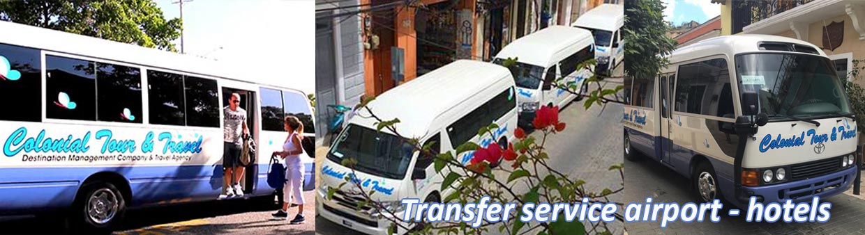 Colonial Tour and Travel transfers, transport autobus, airport hotels